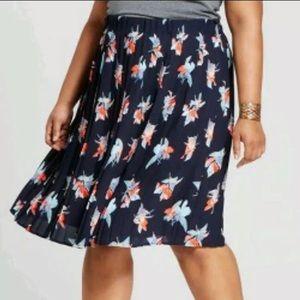 Ava & viv pleated floral skirt size 3X